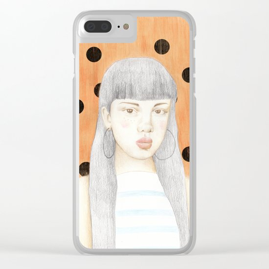 girl portrait Clear iPhone Case