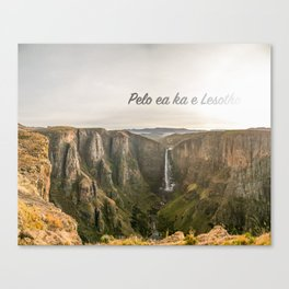 The Place of Smoke Canvas Print