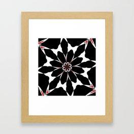 Bizarre Red Black and White Pattern 4 Framed Art Print