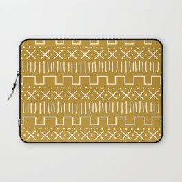 Mustard Mud Cloth Laptop Sleeve