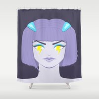 silent Shower Curtains featuring SilentRage by Boriana Giormova