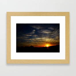 Colorful sunset Framed Art Print