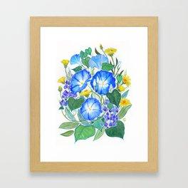 Morning Glory Ikebana Framed Art Print