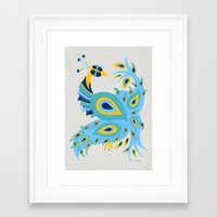 peacock Framed Art Prints featuring Peacock by Cat Coquillette