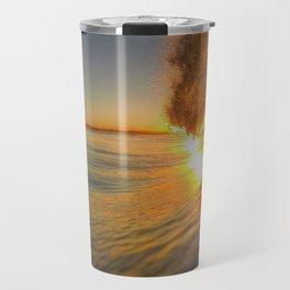 Chris Harsh Photos * Golden Wave At Dawn Travel Mug