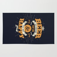 beer Area & Throw Rugs featuring BEER by snevi