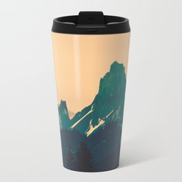 Cascade Mountains Sunset Travel Mug
