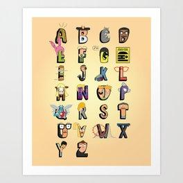 Bob-phabet Art Print