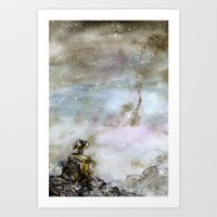 wall e Art Prints featuring Wall-e by Louise Summers
