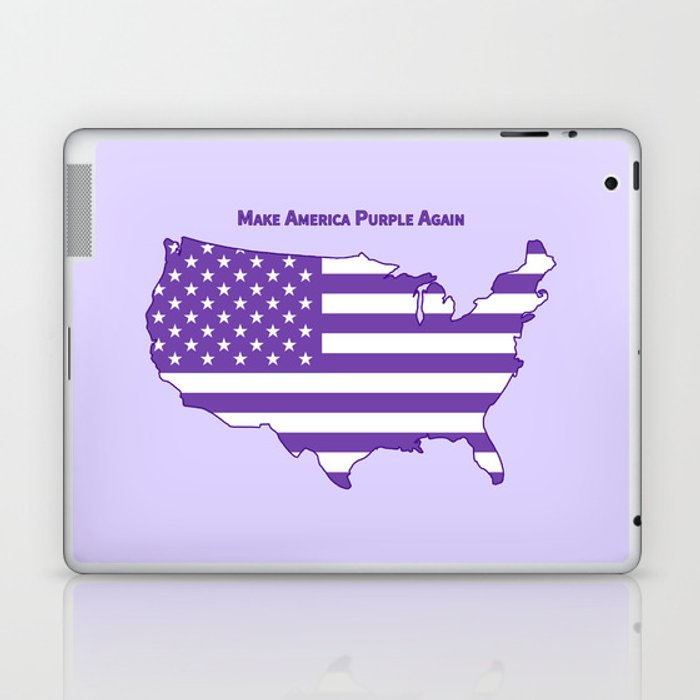 Make America Purple Again United States Map Laptop Ipad Skin By