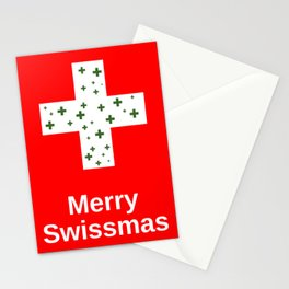 Merry Swissmas Christmas Holiday Cheer for Lovers of the Swiss and Switzerland Stationery Cards