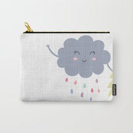happy little rain cloud Carry-All Pouch