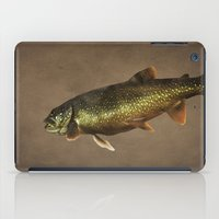 trout iPad Cases featuring Trout on Brown by Brooke Ryan Photography