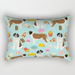 St. Bernard junk food fast food french fries dog breed pattern cute pet gifts Rectangular Pillow