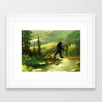 sasquatch Framed Art Prints featuring Sasquatch by Andy Detskas