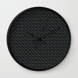 Dark Polka dot Wall Clock