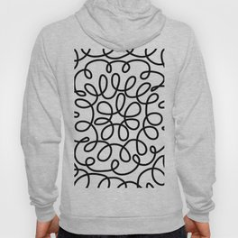 Hand drawn flower doodle circles Hoody