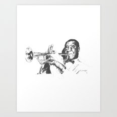 Louis Armstrong, Satchmo or Pops Art Print