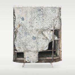 Concrete Chess. Fashion Textures Shower Curtain