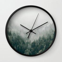 Foggy Forest 3 Wall Clock