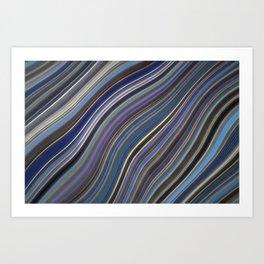 Mild Wavy Lines IV Art Print