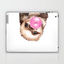 Baby Sloth Playing Bubble Gum Laptop & iPad Skin