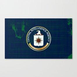 CIA Flag Grunge Canvas Print