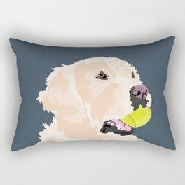 Golden Retriever with tennis ball Rectangular Pillow