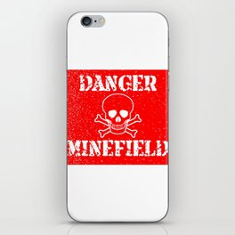 Danger Minefield iPhone Skin