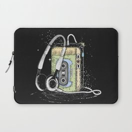 portable cassette player with headphone Laptop Sleeve