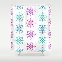 florence Shower Curtains featuring Florence - multicolor by Lisa Argyropoulos
