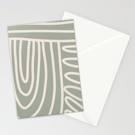 Pathways in Sage  Stationery Cards
