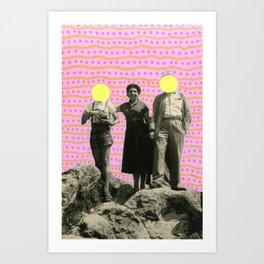 Lunar Rocks Art Print