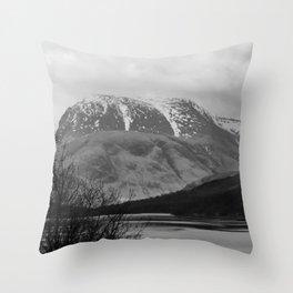 Ben Nevis Scottish Highlands Throw Pillow