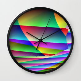 Lonely colorful cow Wall Clock