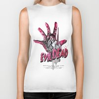 "evil dead Biker Tanks featuring ""EVIL DEAD"" BRUCIE IS BACK by Superdroso"