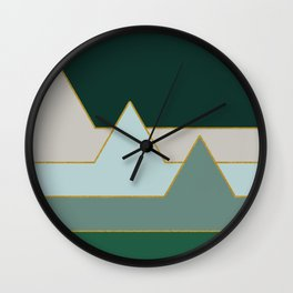 Green Mountains #society6 #decor #buyart Wall Clock