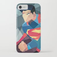 dc comics iPhone & iPod Cases featuring DC Comics Man of Steel by Eric Dufresne