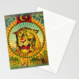 Tiger Fez Label Stationery Cards