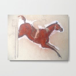 Horse Show 3 - The Jumping Horse Metal Print