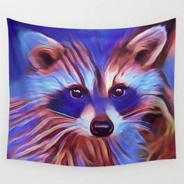 The Raccoon Bandit Wall Tapestry