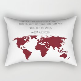 Language is the Road Map of A Culture Rectangular Pillow