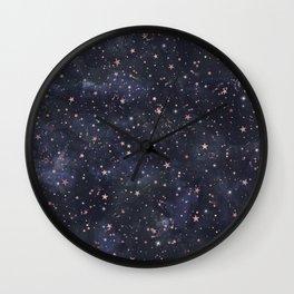 Blue & Pink Celestial Wall Clock
