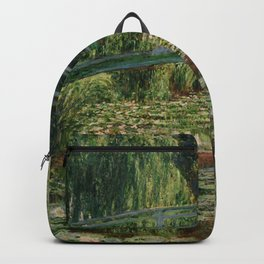 """Claude Monet """"The Japanese Footbridge and the Water Lily Pool, Giverny"""" Backpack"""