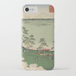 Spring Trees Mountain Ukiyo-e Japanese Art iPhone Case
