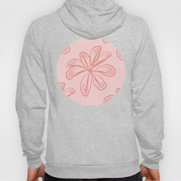 Soft Pink Bunch Of Leaves Pattern Hoody