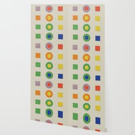 Chevreul Laws of Contrast of Colour, Plate VI, 1860, Remake, vintage wash Wallpaper