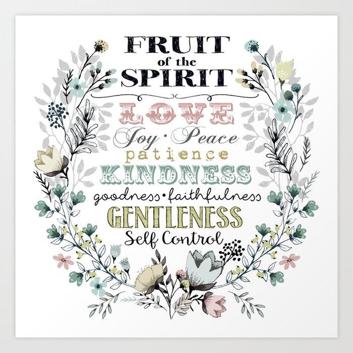 Fruit Of The Spirit Darker Color Palette Art Print By