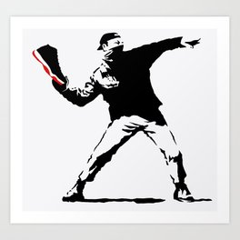 Jordan BRED 11 Thrower Art Print