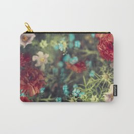 Spring Message - Colourful Flowers Carry-All Pouch